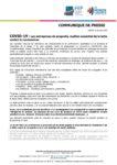 Communiqué de presse COVID-19 : Les entreprises de propreté, maillon essentiel de la lutte contre le coronavirus